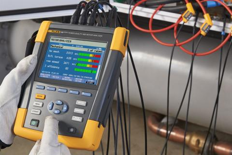 NEW FIRMWARE! Fluke 438-II Motor Analyzer Now supports measurements on variable frequency drives.