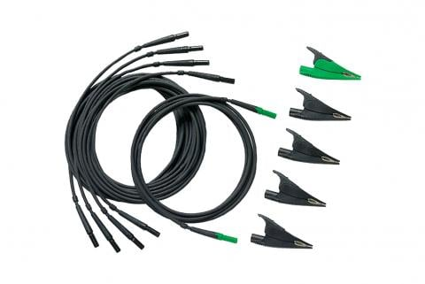 Fluke TLS430 – Test Leads and Alligator Clips (4 black, 1 green) - 1