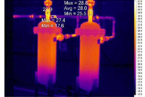 How color palettes, alarms and markers improve infrared inspections