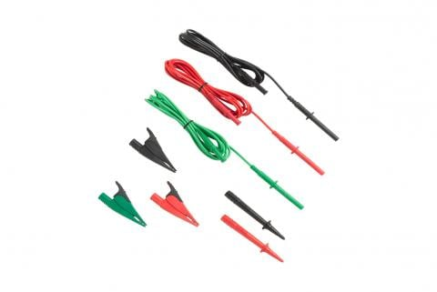 Fluke TL1550B Test Leads with Alligator Clips (Red, Black, Green)