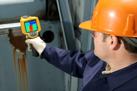The role of thermal imagers in testing a centrifugal chiller