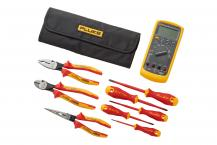Fluke 87V Industrial Multimeter plus insulated hand tools starter kit