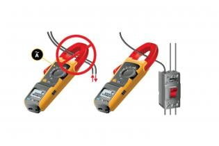 Measuring ac current with a clamp meter's jaws