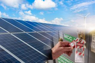Lockout/tagout photovoltaic systems