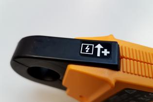 Why is there an arrow on your current clamp