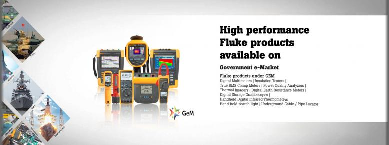 High performance Fluke products available on Government e-Market
