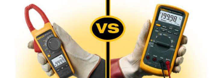 Comparing clamp meters to digital multimeters