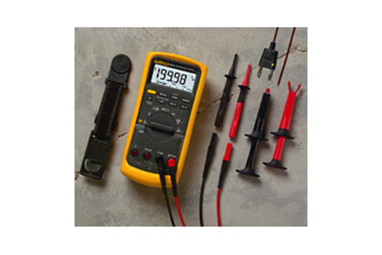 Fluke 87v E Industrial Electrician Combo Kit Car Electric Circuit Voltage Probe Tester 45mlength Dc 624v