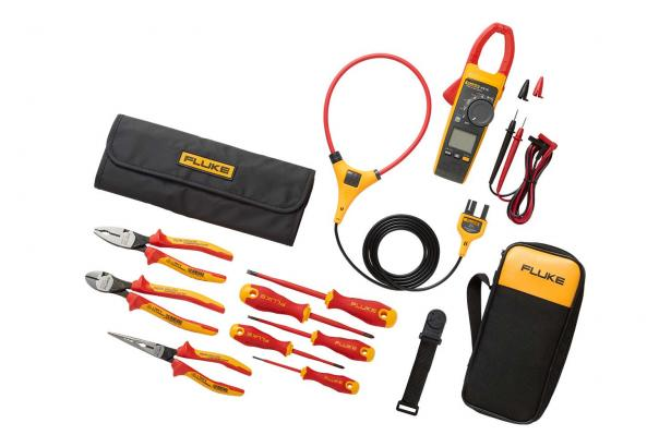 Fluke 376 FC True-RMS Clamp Meter plus insulated hand tools starter kit