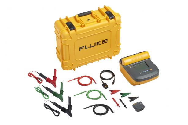 Fluke 1550C 5 kV Insulation Tester Kit – hard case, heavy duty leads, ir3000 FC wireless data connector