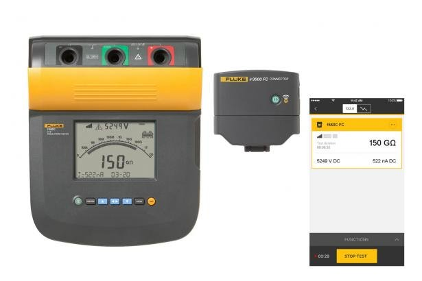 Digitale Isolatietester | Fluke 1550C 5kV-isolatietester | Fluke
