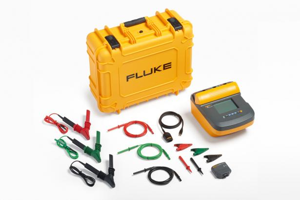 Fluke 1555 10 kV Insulation Tester Kit – hard case, heavy duty leads, ir3000 FC wireless data connector