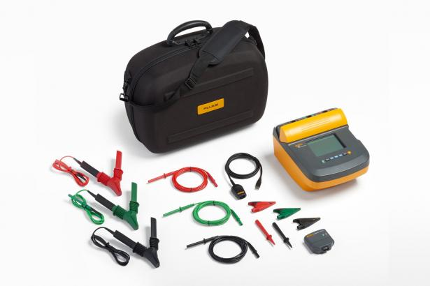 Fluke 1555 10 kV Insulation Tester – soft case, heavy duty leads, ir3000 FC wireless data connector
