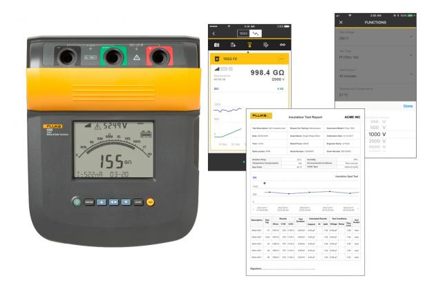 Fluke 1555 FC 10 KV Insulation Tester Kit | Fluke