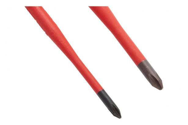 Insulated Phillips screwdrivers in #1 and #2 sizes.