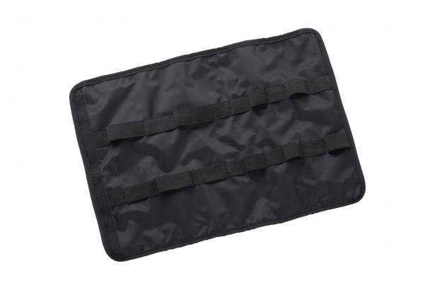 The RUP8 Roll-Up Pouch contains space for five screwdrivers and three pliers, held in with elastic loops