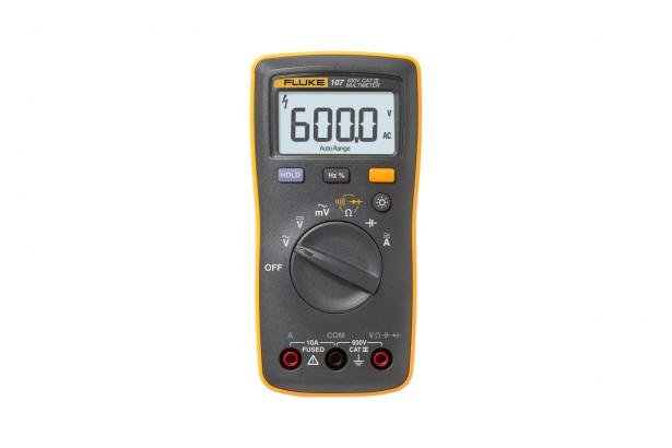 Fluke 107 Palm-sized, CAT III Digital Multimeter | Fluke