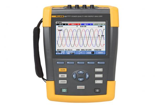 Fluke 435 Series II Power Quality and Energy Analyzer front view