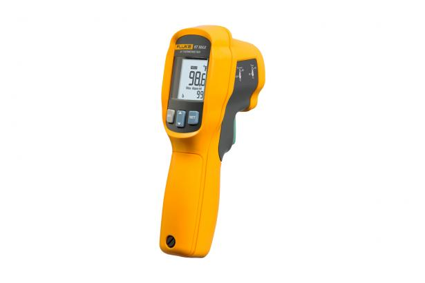 Precision infrared thermometer: ± 0.5 °F from 71.6 °F to 109 °F (± 0.3 °C from 22 °C to 43 °C)