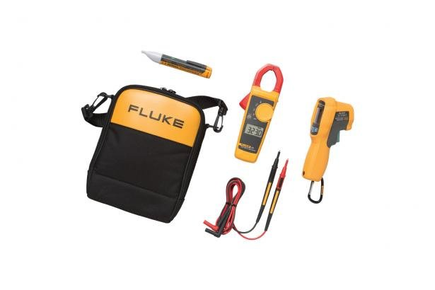 Fluke 62 MAX+/323/1AC IR Thermometer, Clamp Meter And Voltage Detector Kit | Fluke