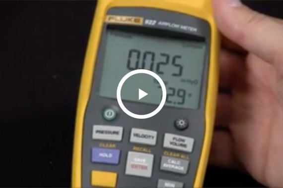 How to measure differential air flow with the Fluke 922