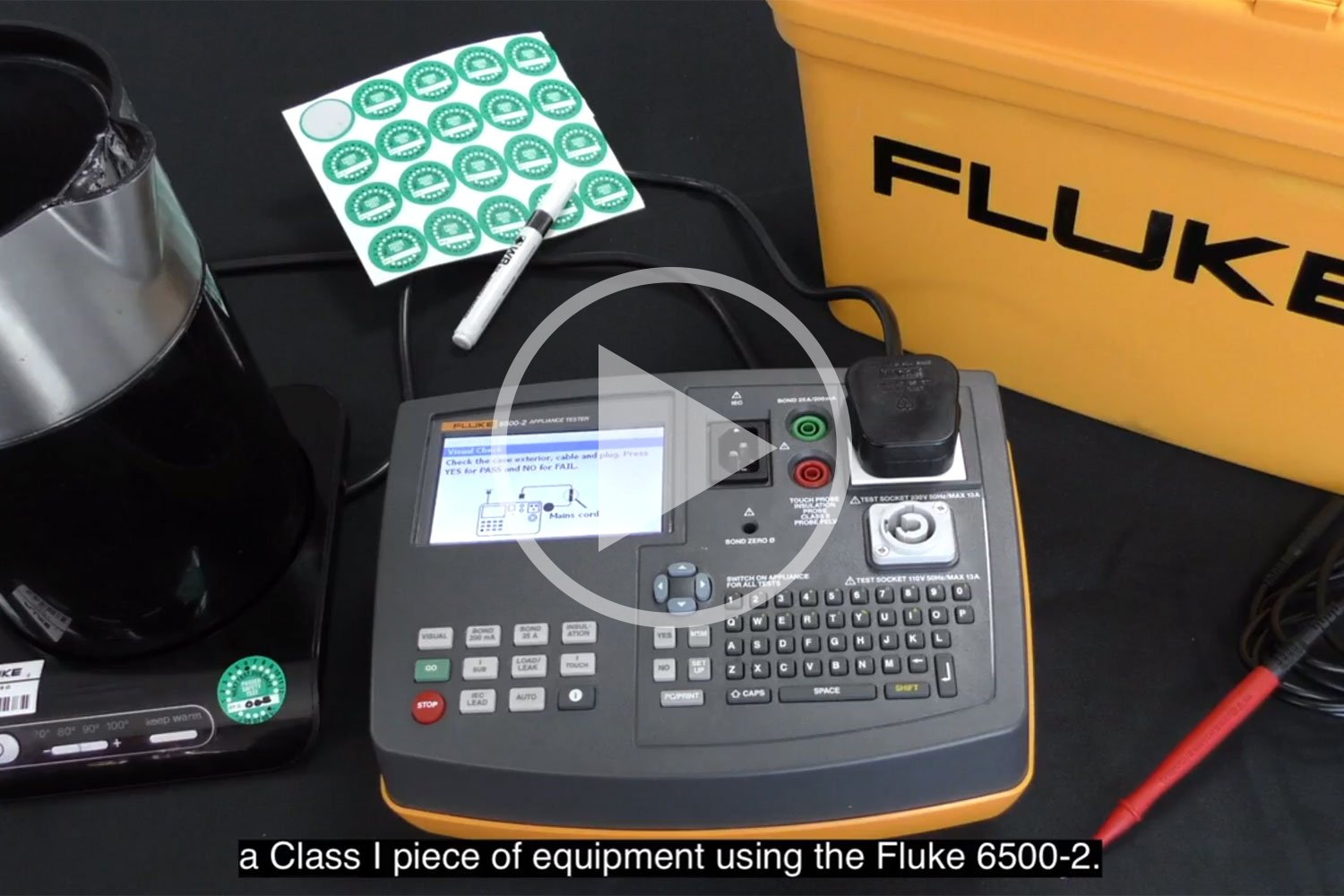 How to test a class I appliance- Fluke 6500-2 PAT Tester: