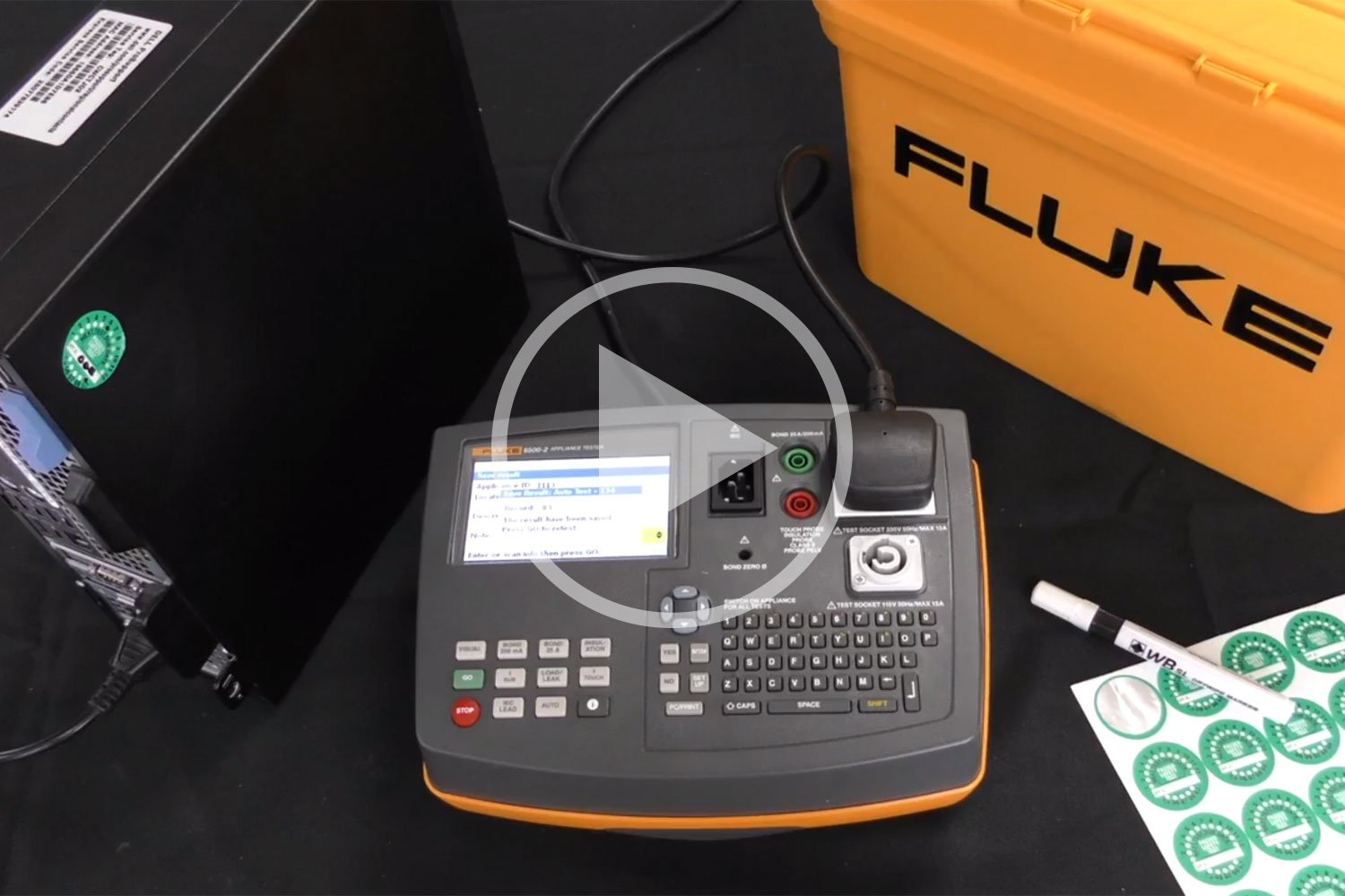 How to test an IT Equipment- Fluke 6500-2 PAT Tester: